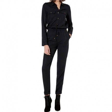 a46d6e51528f Pepe Jeans - Combinaison Rovia Noir Femme Pépé Jeans - pas cher ...