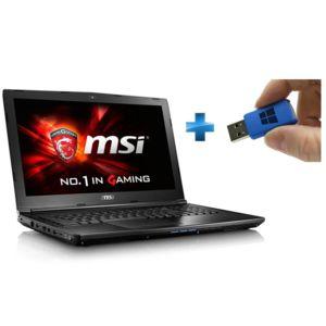 MSI - GL62 7RD-468XFR - Noir + Windows 10