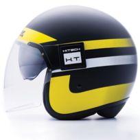 Blauer - casque jet moto scooter Pod Graphic fibre noir-jaune-blanc mat