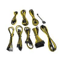 CABLEMOD - Kit de câbles gainés B-Series Straight Power – NOIR / JAUNE