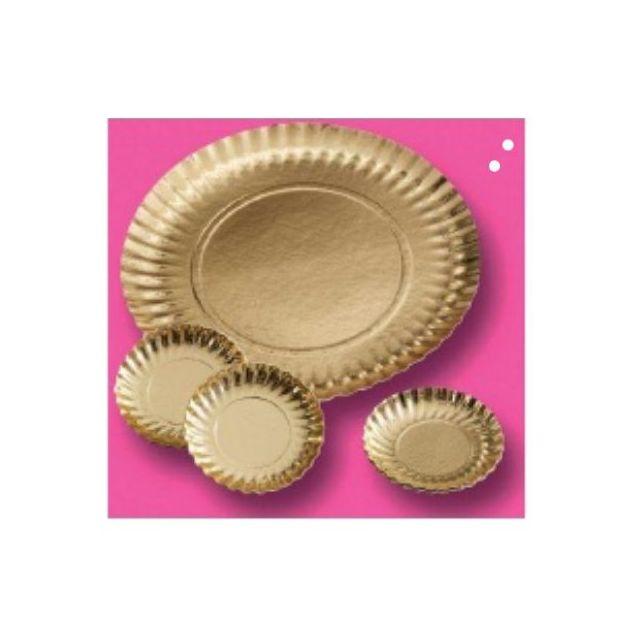 Guery Assiette cartonnée ronde or 27 cm
