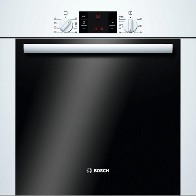 Bosch - four intégrable 60l 60cm a pyrolyse blanc/noir - hba63b222f