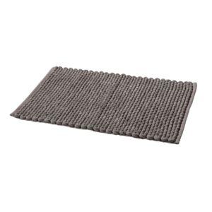 tex home tapis de bain bobble en polycoton gris pas cher achat vente tapis de bain. Black Bedroom Furniture Sets. Home Design Ideas