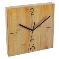 Orium - Horloge a piles 20x20 cm bambou