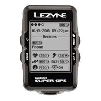 Lezyne - Super - Compteur sans fil - avec appareil de mesure de la fréquence cardiaque et capteur de cadence noir