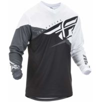 Fly Racing - Maillot F-16 2019 Noir Blanc