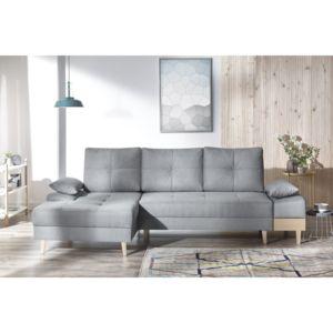 bobochic canap sven i 4 places convertible angle gauche gris clair 153cm x 110cm x. Black Bedroom Furniture Sets. Home Design Ideas