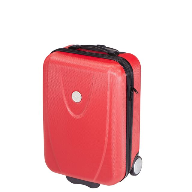 Carrefour Valise Abs - 2 Roues - 51 Cm - Rouge - As-A2 WYqFxp