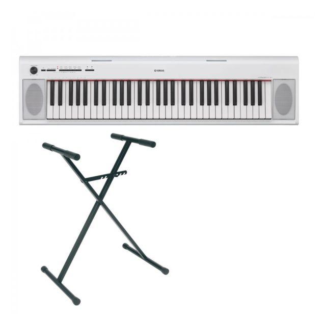 Yamaha Pack Piano Numérique Np 12 Blanc Stand En X Pas Cher