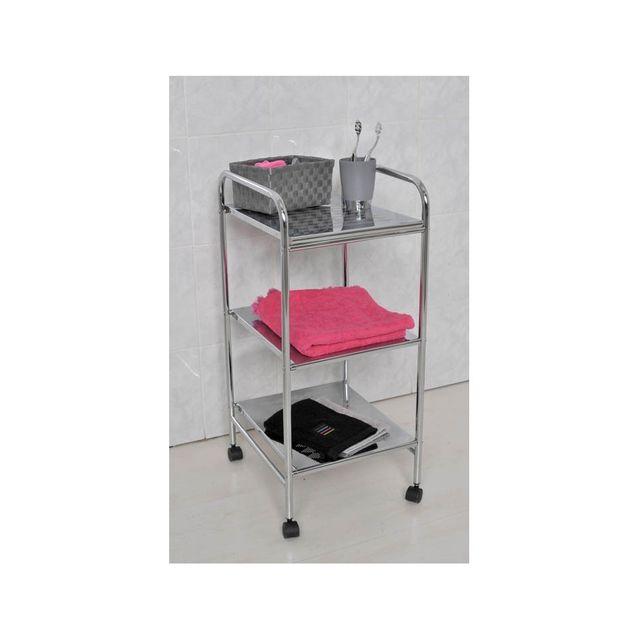 tendance meuble mtal sur roulettes pour salle de bain - Meuble Bas Pour Salle De Bain