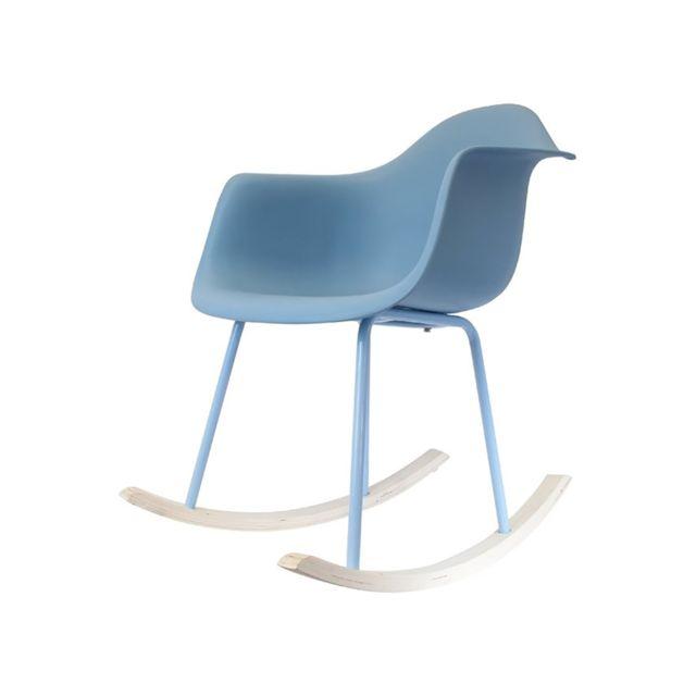 les douces nuits de ma fauteuil bascule scandinave bleu pas cher achat vente fauteuils. Black Bedroom Furniture Sets. Home Design Ideas