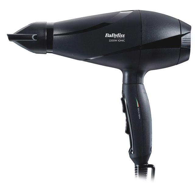 BABYLISS Sèche-cheveux + brosse brushing - P1093E + Noir
