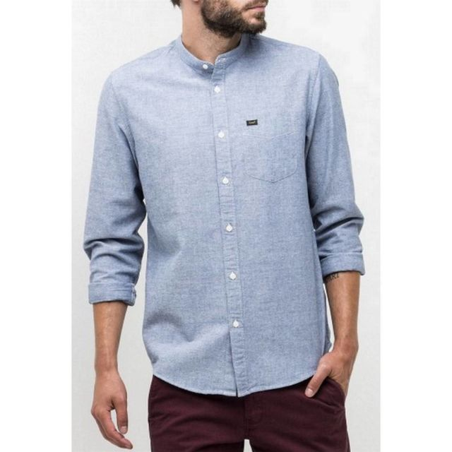 Lee Vente Mao Pas Achat Col Cher Homme Chemise OPn0wk