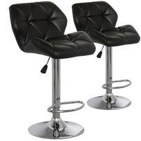 Paris Prix - Lot de 2 chaises de bar Lizie - Matelassé - Excellent confort - 5 coloris au choix