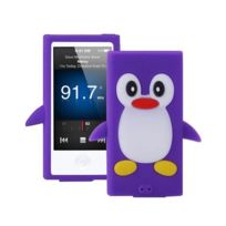 Techexpert - Coque silicone cartoon Pingouin pour ipod nano 7 violet