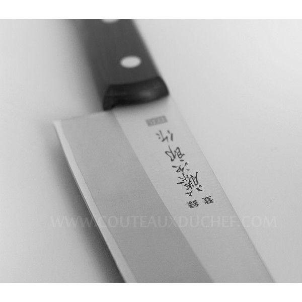 Tojiro - Couteau japonais de chef 18cm Dp plein manche Noir