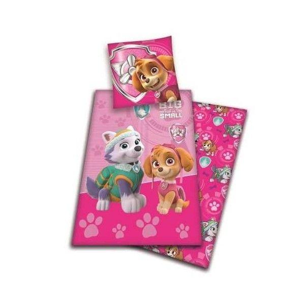 pat patrouille skye pink parure de lit enfant housse de couette pas cher achat vente. Black Bedroom Furniture Sets. Home Design Ideas