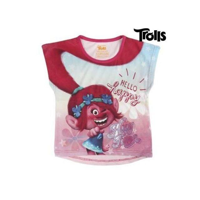 15be0472b9e3f Trolls - T shirt à manches courtes Enfant 8729 taille 7 ans Multicolore -  N/A - pas cher Achat / Vente Chemises de nuit, nuisettes - RueDuCommerce