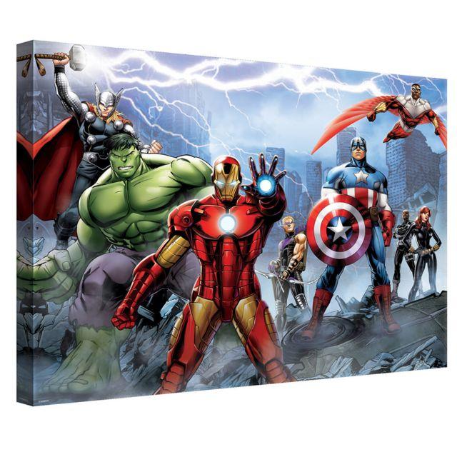 Bebegavroche Tableau Lequipe Avengers Marvel 0cm X 0cm Pas Cher