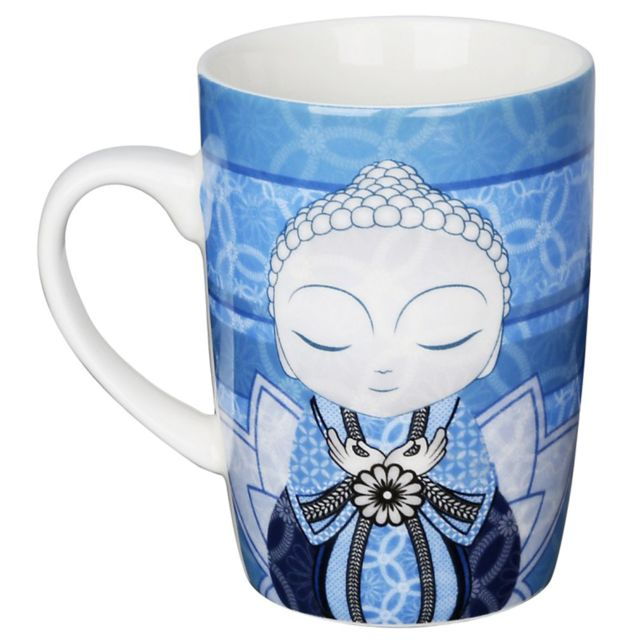 Kontiki Tasse céramique de collection Little Buddha Bleu