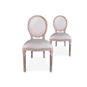 cote cosy lot de 2 chaises design beige tissu kajol pas cher achat vente chaises. Black Bedroom Furniture Sets. Home Design Ideas