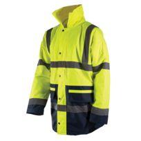 Silverline - Veste parka de chantier bicolore haute visibilité classe 3 avec coutures étanches conforme En471 M 36-39 92-100cm