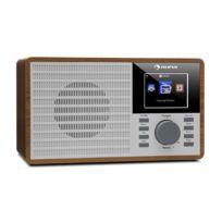 """AUNA - IR-160 Radio internet WiFi USB AUX UPnP 2.8"""" écran TFT télécommande -marron"""