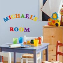 MonbeauSticker - Stickers Alphabet Multicolore Roommates Repositionnables 73 stickers