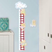 Crearreda - Sticker en relief en mousse toise forme échelle et ours Bear