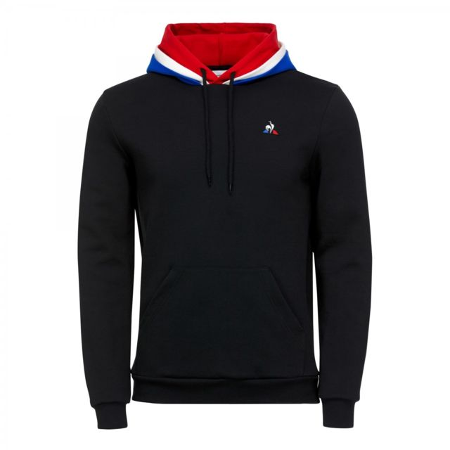 Le Coq Sportif Sweat Hoody N1 1821496 Noir pas cher