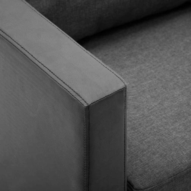 Icaverne - Canapés reference Canapé à 3 places Simili-cuir Noir et gris clair