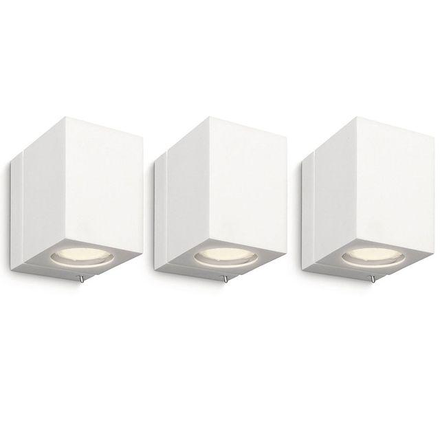 Philips Pack de 3 Luminaire Applique murale cubique Ecomoods - 332183116