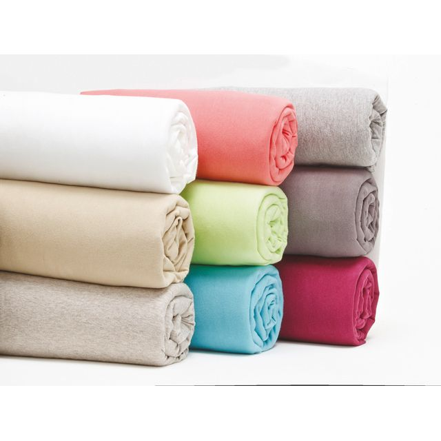 TEX HOME - Drap housse en jersey, coton durable