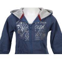 Teidem - Vestes sweats zippés capuche Carla indigo fzcap sw g Bleu 88645