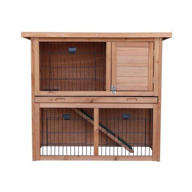 Aucune - Clapier en bois Diego 92x45x81 cm - Pour lapin - pas cher ... 95a96b316e1b