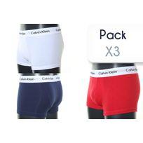 Calvin Klein - Calecon Boxer Pack 3 Blanc/bleu/rouge