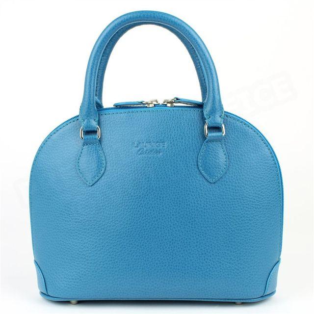 323b03c69aaf0 Volumica - Mini sac à main New-york cuir Bleu turquoise Beaubourg ...