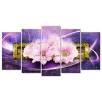 Declina - Vente tableau fleurs roses sur toile pas cher - Tableau Xxl