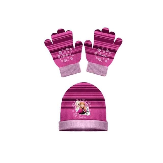 50e7ff4e30ba Bonnet et gants - La reine des neiges - Rose - pas cher Achat   Vente  Casquettes, bonnets, chapeaux - RueDuCommerce