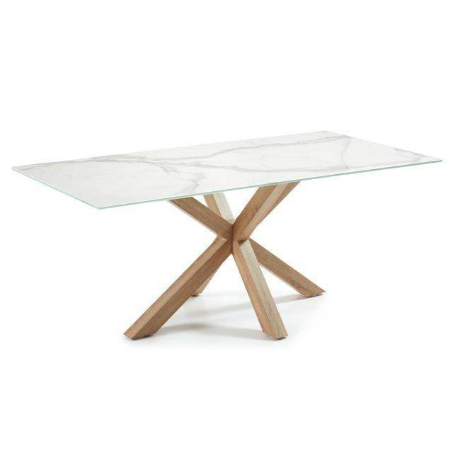 Kavehome Table New Argo 200x100, Porcelanique Tecnique Kalos blanco