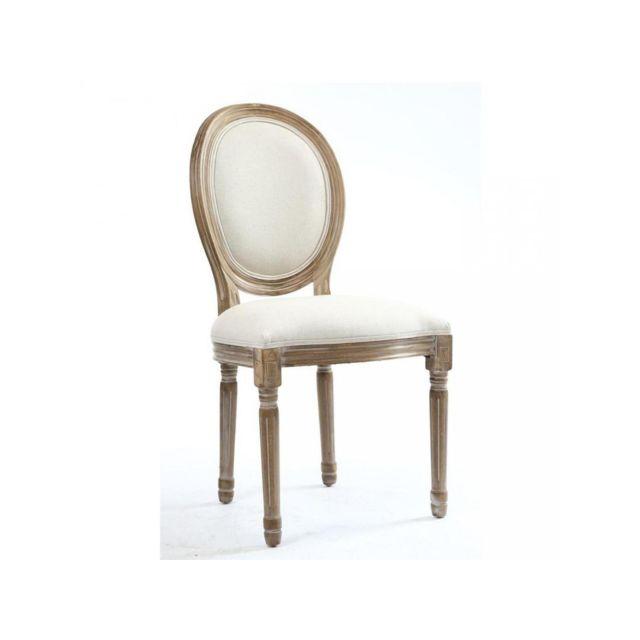 Medaillon de en Ivoire Lot 2 chaises élégantes lin 29IDHE