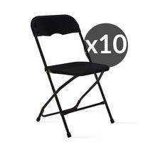 Mobeventpro - Chaises pliantes noires de réception Lot de 10