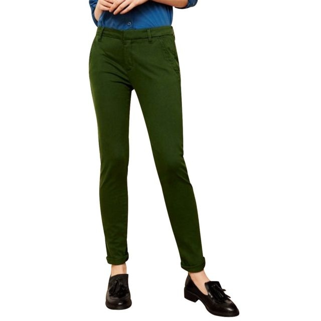 pantalon femme vert sapin