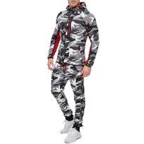 Marque Generique - Survêtement camouflage fashion homme Survet 886 blanc camo