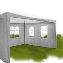 Miadomodo - Pavillon tonnelle de jardin blanc 3 x 4 m FZP02