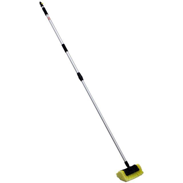 GT MARKET Balai brosse de lavage télescopique avec raccord tuyau - Longueur 2.50 mètres