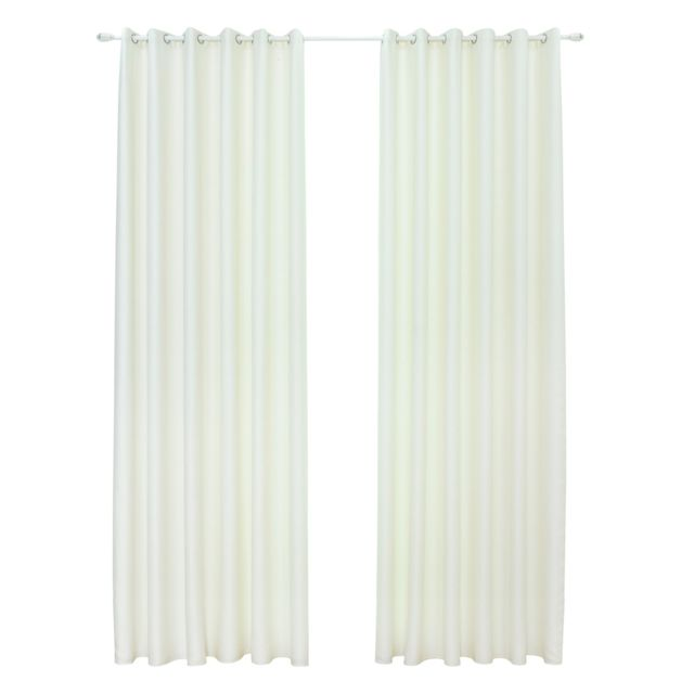 Rideaux Avec 2 Attaches Pour La Chambre A Coucher Salon Bureau Contient 2 Panneaux 135 160cm Blanc