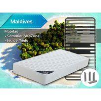 Altobuy - Maldives - Pack Matelas + AltoZone 90x200 + Pieds