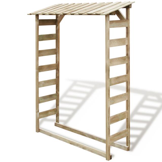 rocambolesk superbe abri en bois pour bois de chauffage. Black Bedroom Furniture Sets. Home Design Ideas