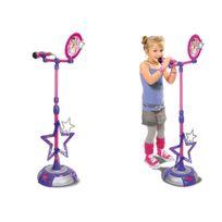 Smoby - Microphone enfant sur pied Violetta